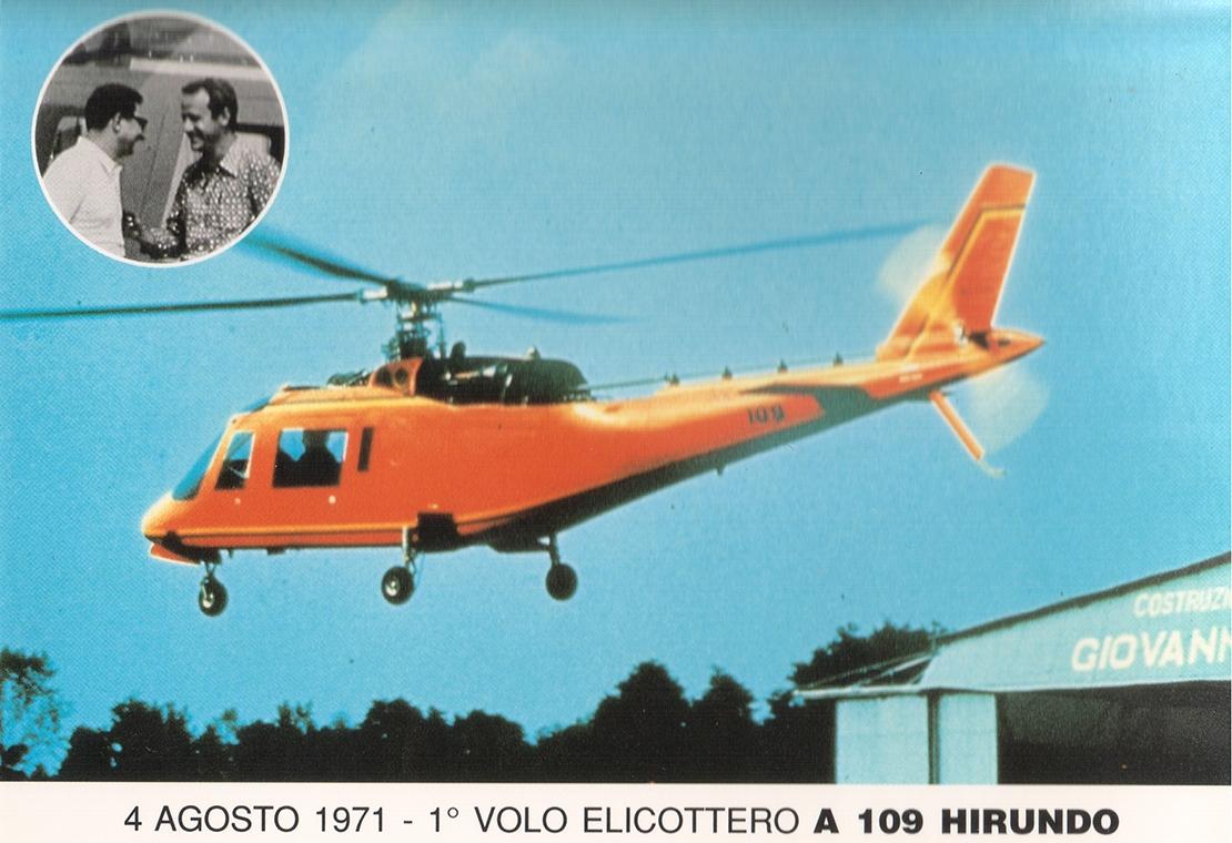 Leonardo comemora 50 anos do primeiro voo do helicóptero italiano A109